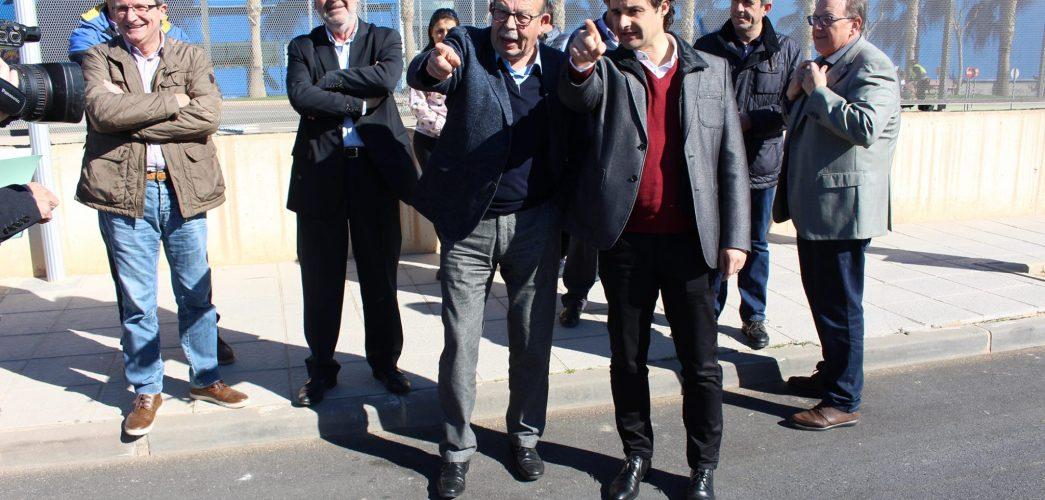 La Diputació d'Alacant inaugura les obres d'ampliació de la xarxa d'aigües pluvials del Pilar de la Foradada