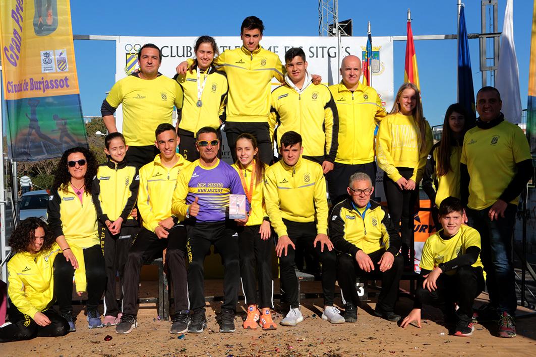 Jorge López de la Cueva i Andrea Cabré, vencedors del Gran Premi de Marxa en Ruta Ciutat de Burjassot