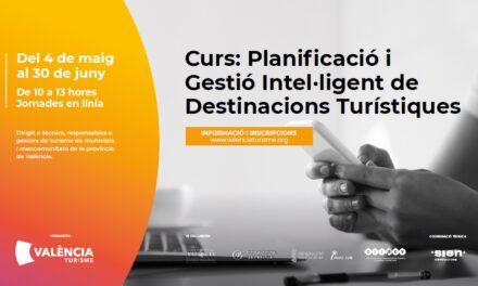 València Turisme organitza un Curs de Gestió Intel·ligent de Destinacions Turístiques